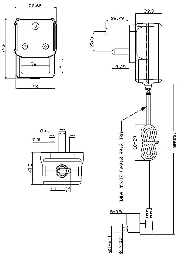 南非插墙适配器电源(rohs)规范的ac电源供应器6v 500ma