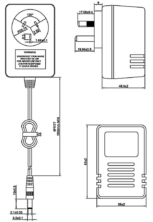 240v plug types power supplies linear ac adapter output 9v 1a